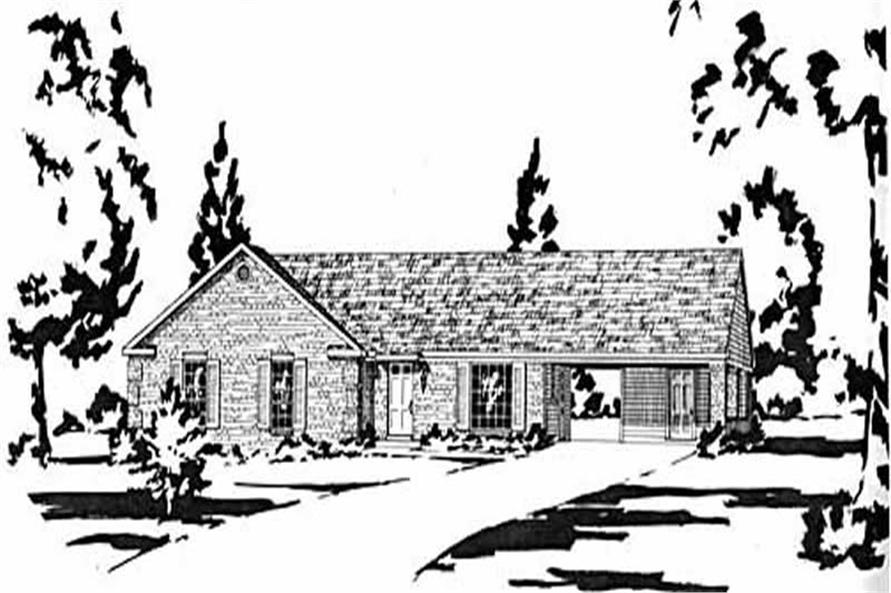 Main image for house plan # 8025