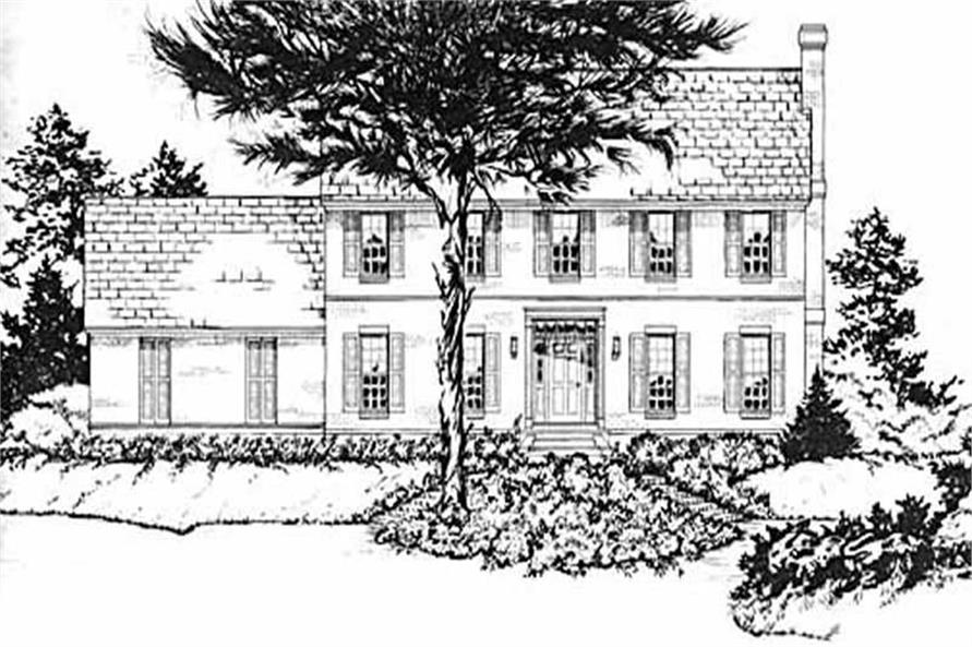 Main image for house plan # 8060