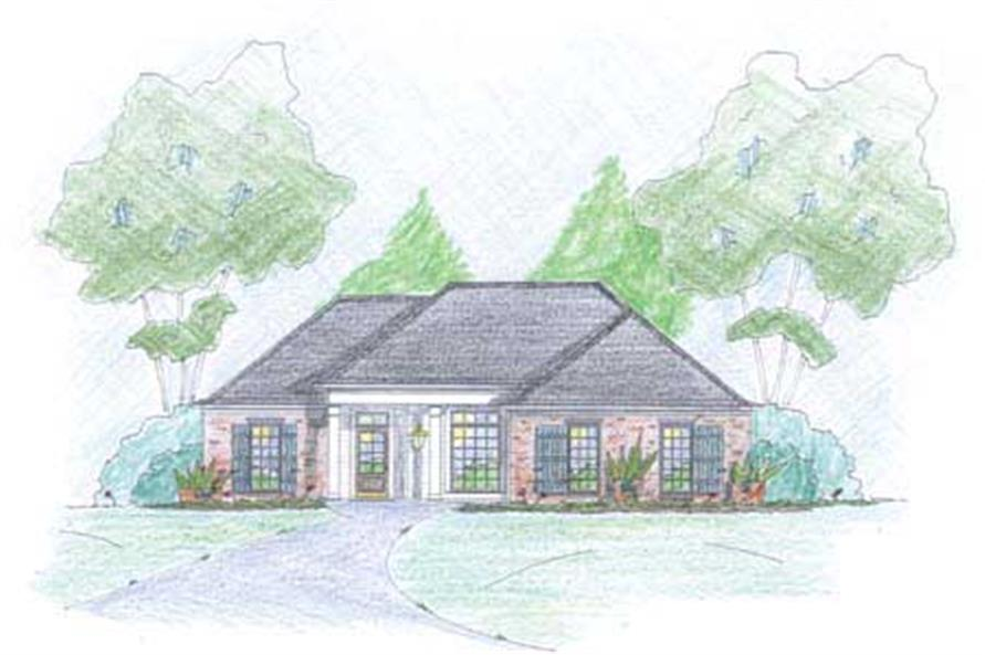 Traditional Houseplans Color Rendering.