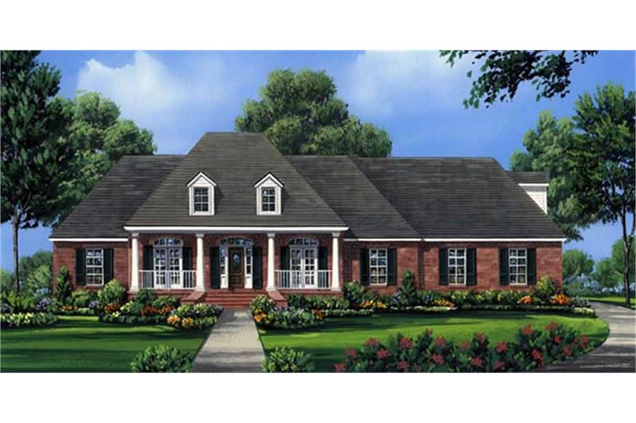 141-1001: Home Plan Rendering