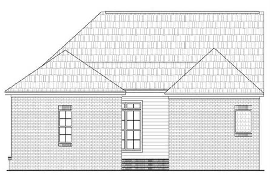 House Plan HPG-2050-1 Rear Elevation