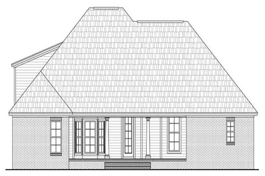 Home Plan Rear Elevation for Country Home Plans # HPG-1917