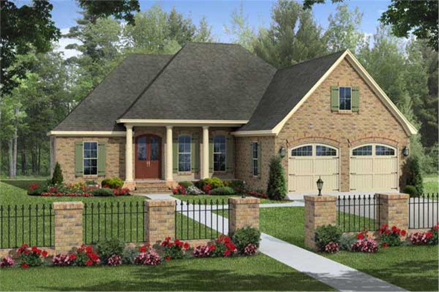 This is a nice rendering of these European House Plans.