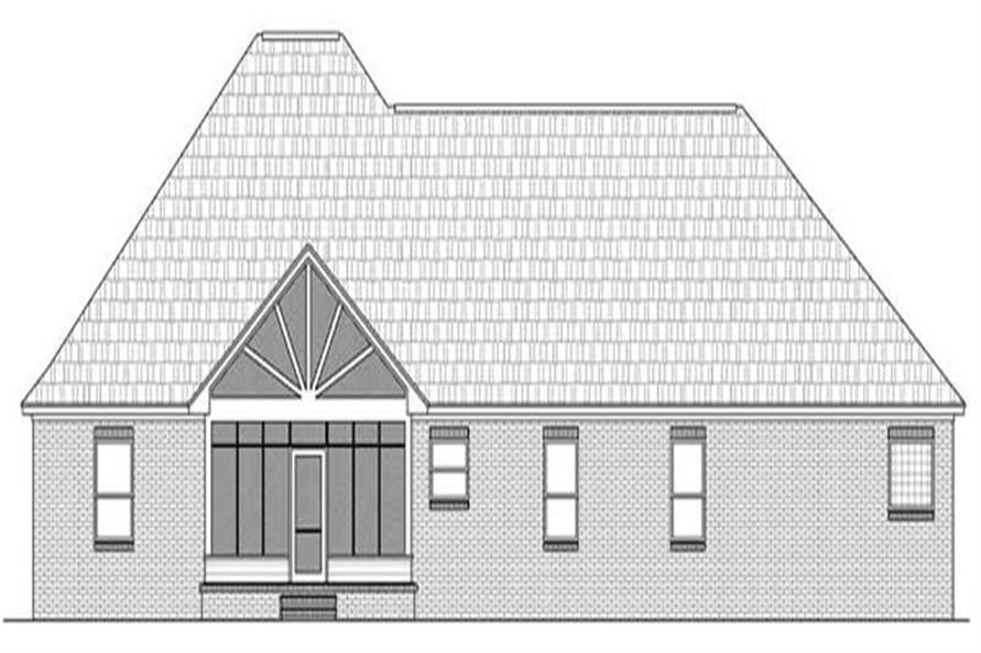 Home Plan Rear Elevation for Country House Plans # HPG-2216