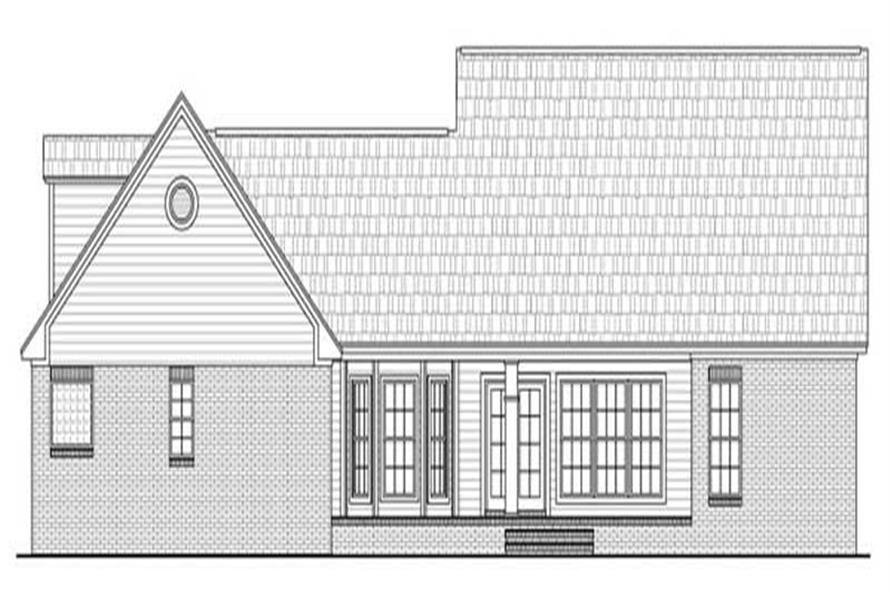 Home Plan Rear Elevation for country home plans # HPG-2266-1