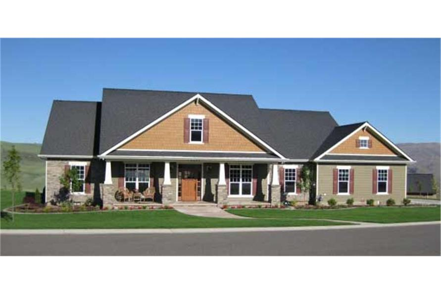 Color photograph of Craftsman Country Home Plan #141-1038