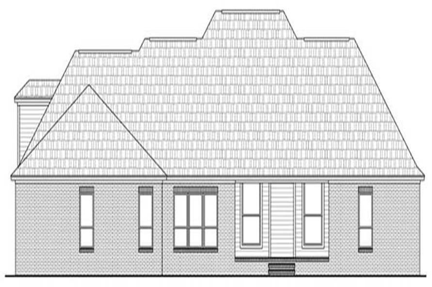 Home Plan Rear Elevation for country houseplans HPG-2769-2