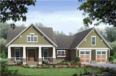 3-Bedroom, 2067 Sq Ft Craftsman House Plan - 141-1075 - Front Exterior