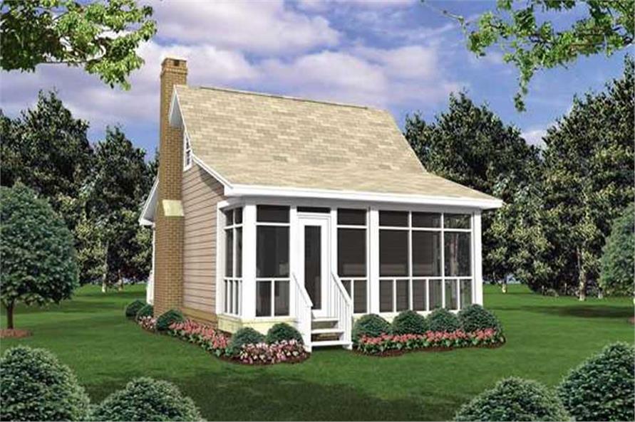 House Plan HGP-400-1 Rear Elevation