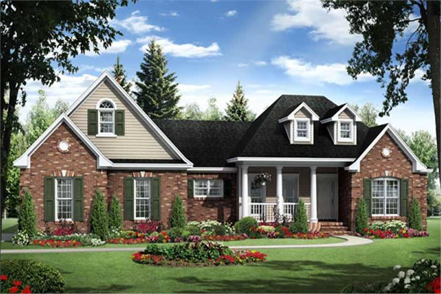 House Plans HPG-1800-6 Main Elevation