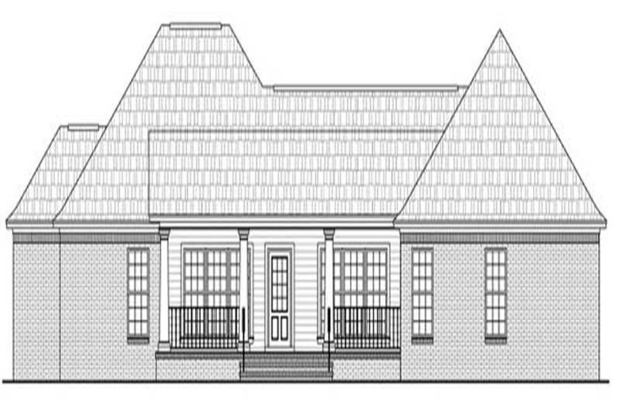 Home Plan Rear Elevation for HPG-1800-6