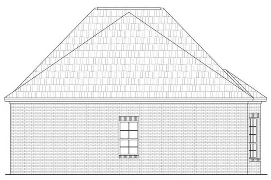 House Plan HPG-1733-1 Rear Elevation