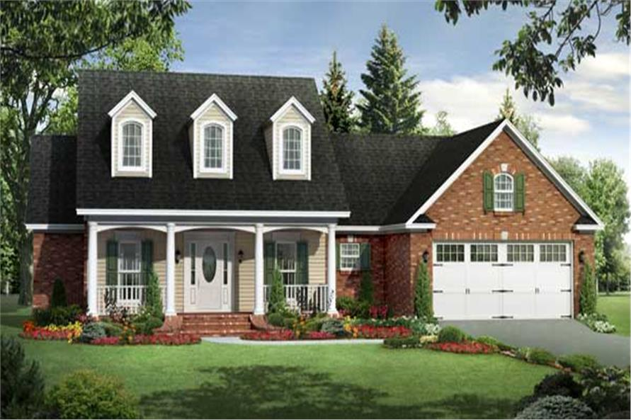 Here is another computer rendering of a Cape Cod Homeplan.
