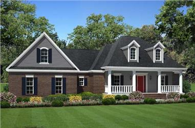 3-Bedroom, 1804 Sq Ft Country Home Plan - 141-1095 - Main Exterior
