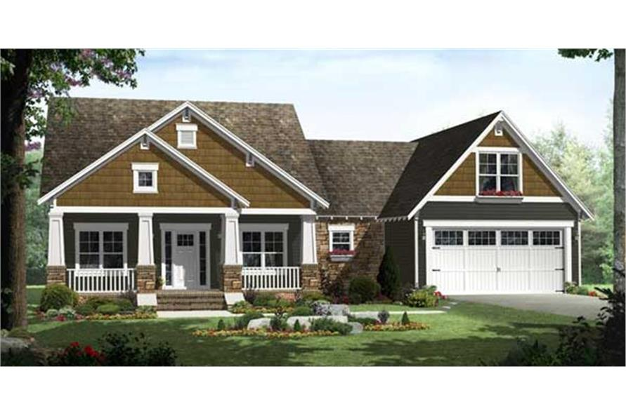 141-1115: Home Plan Front Elevation