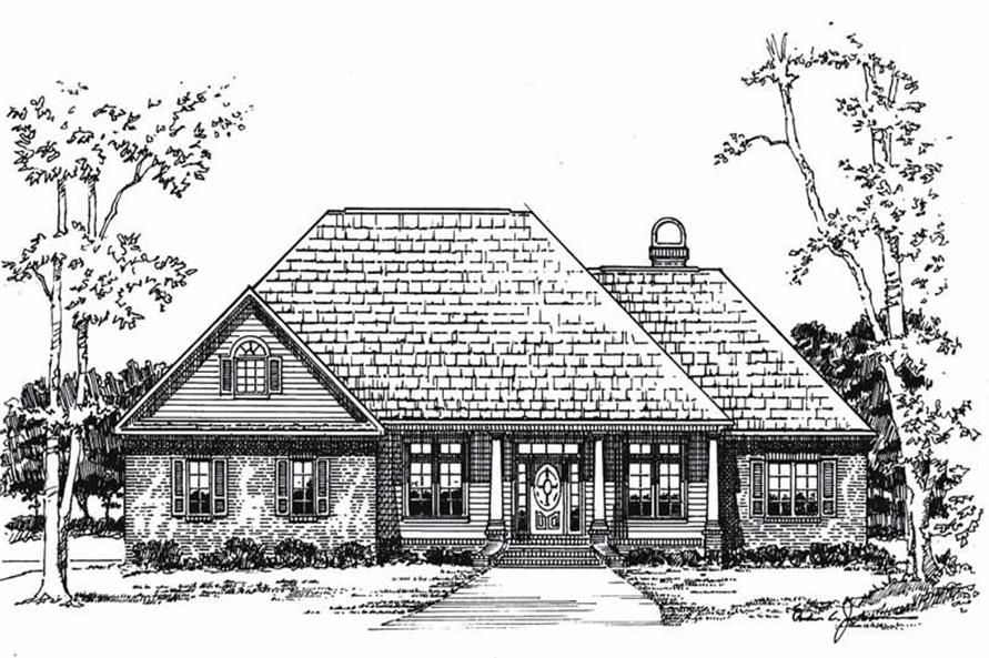 Main image for house plan # 7855
