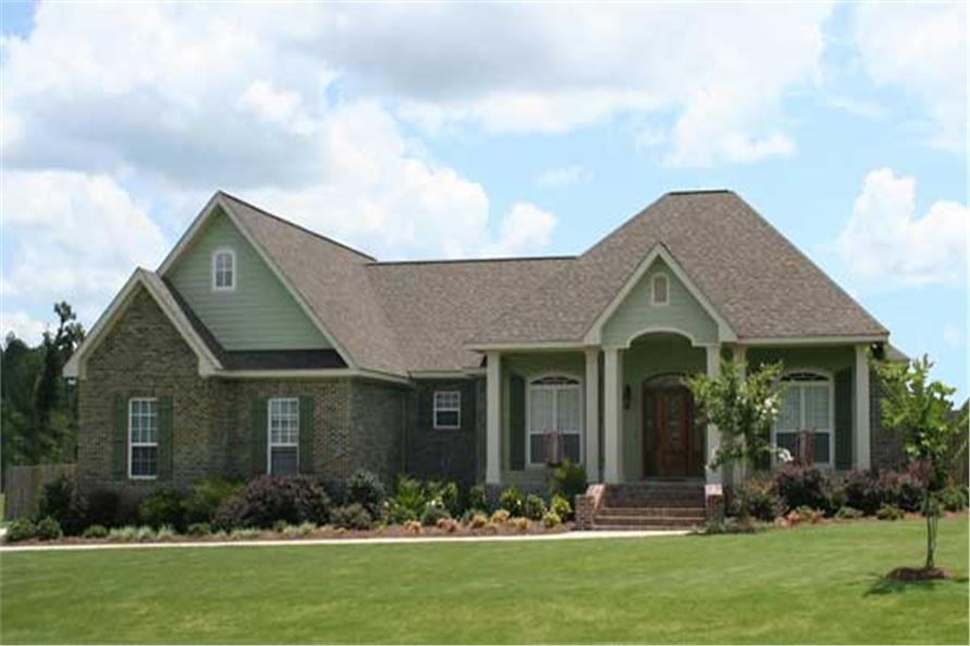 The image shown here is a colorful photo of these French Home Plans.