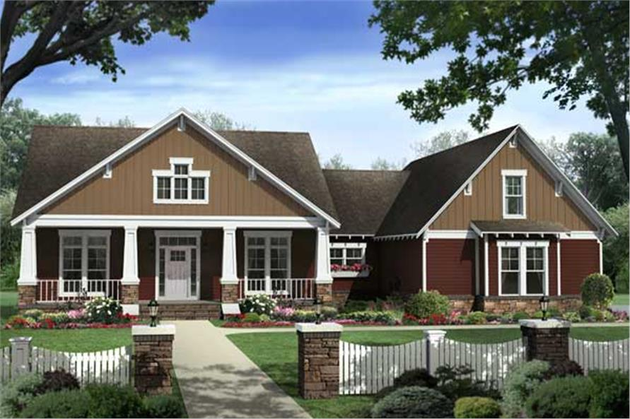 Once again, we have a computer rendering of a set of Craftsman Houseplans.