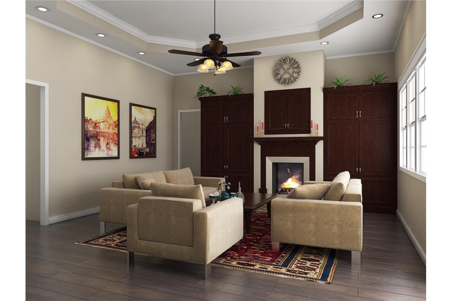 141-1148: Home Plan 3D Image-Great Room