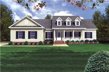 3-Bedroom, 1800 Sq Ft Country House Plan - 141-1175 - Front Exterior