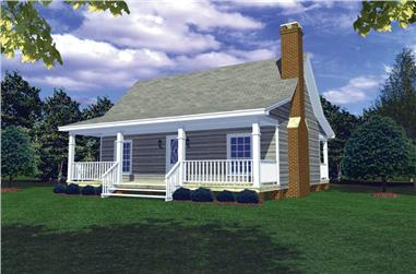 2-Bedroom, 800 Sq Ft Country Home Plan - 141-1184 - Main Exterior