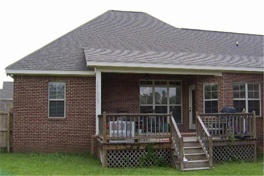 141-1196 house plan rear deck