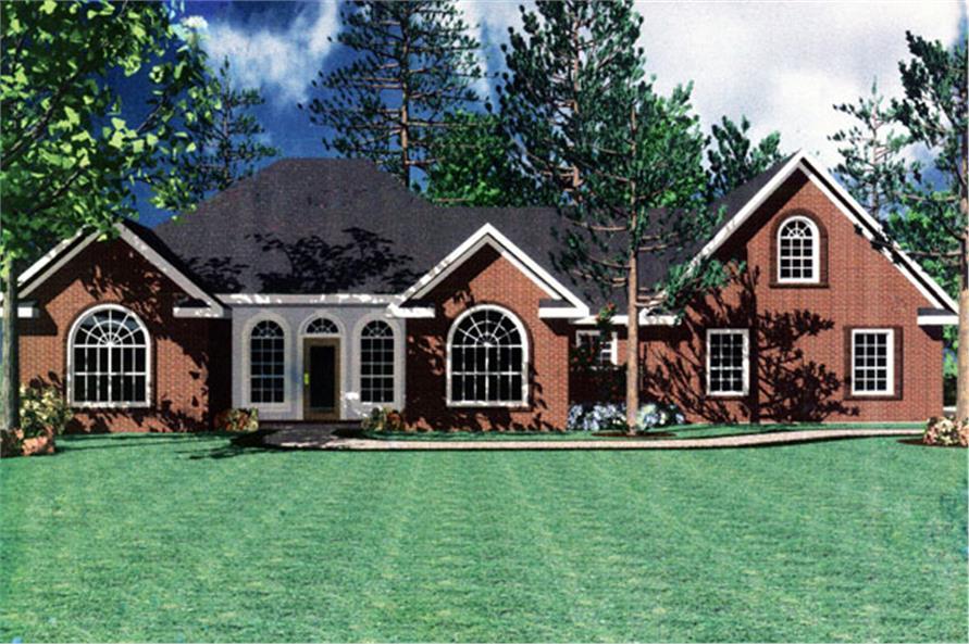 141-1196 house plan rendering
