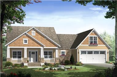 3-Bedroom, 1800 Sq Ft Ranch Home Plan - 141-1239 - Main Exterior
