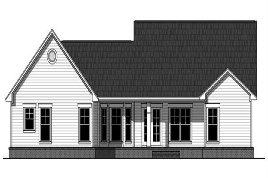 141-1241 house plan rear elevation