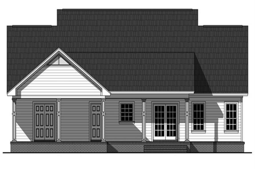 141-1243 house plan rear