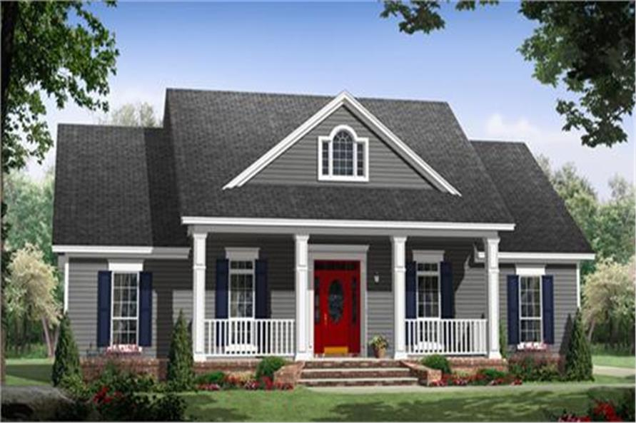 Illustration of house plan 141-1243 | ThePlanCollection