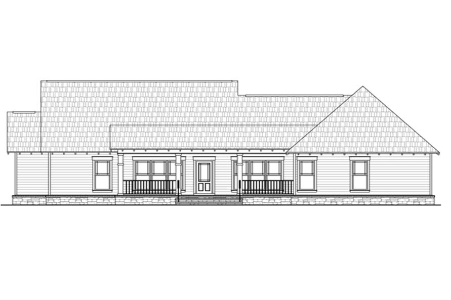 141-1245 house plan rear elevation