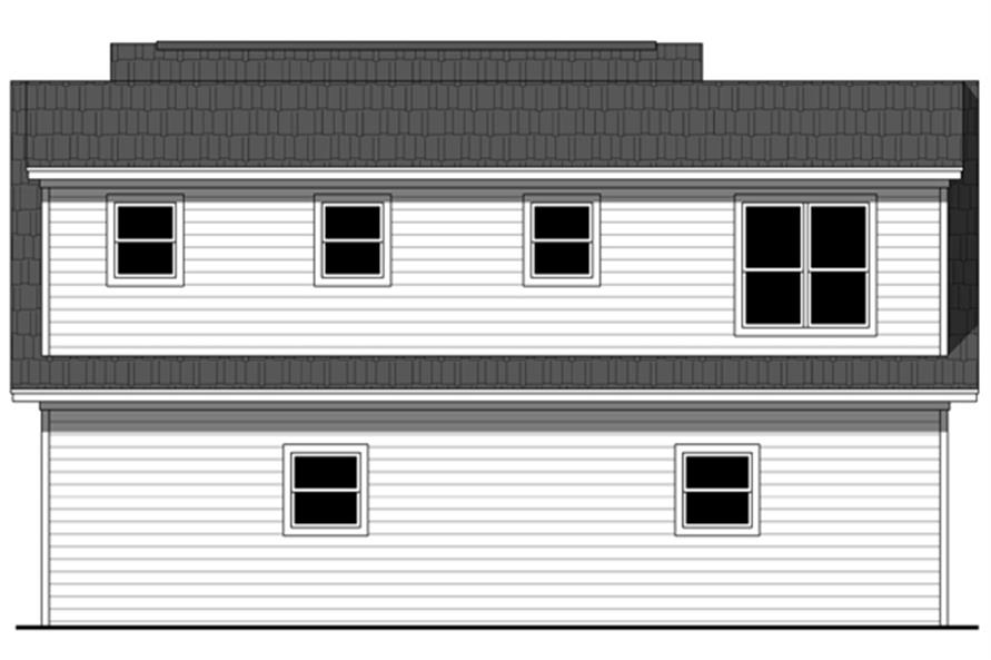 141-1251: Home Plan Rear Elevation