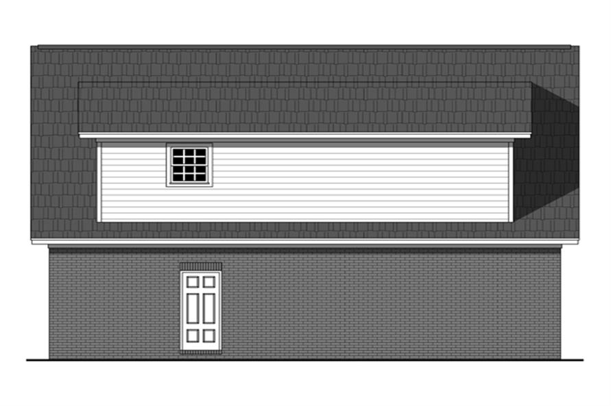 141-1252: Home Plan Rear Elevation