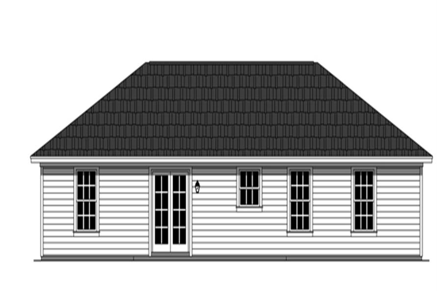 141-1256: Home Plan Rear Elevation
