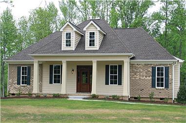 3-Bedroom, 1641 Sq Ft Country House Plan - 141-1259 - Front Exterior