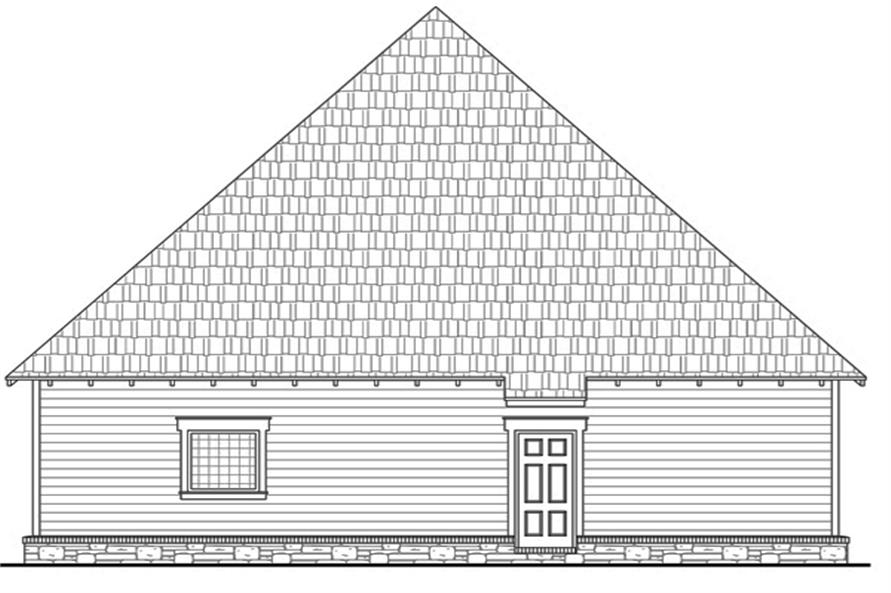 141-1262: Home Plan Rear Elevation
