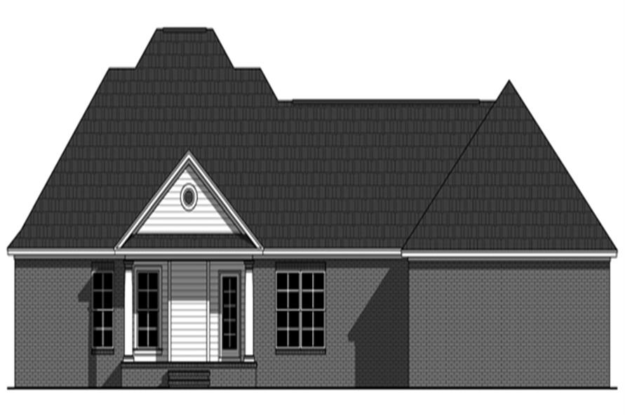 141-1263: Home Plan Rear Elevation