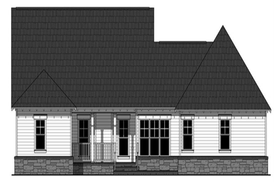 141-1276: Home Plan Rear Elevation