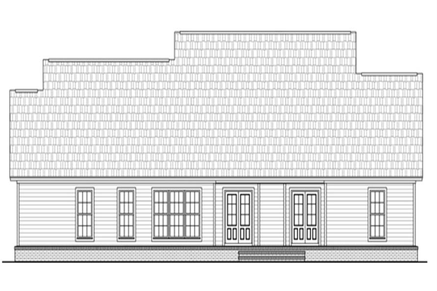 141-1278: Home Plan Rear Elevation