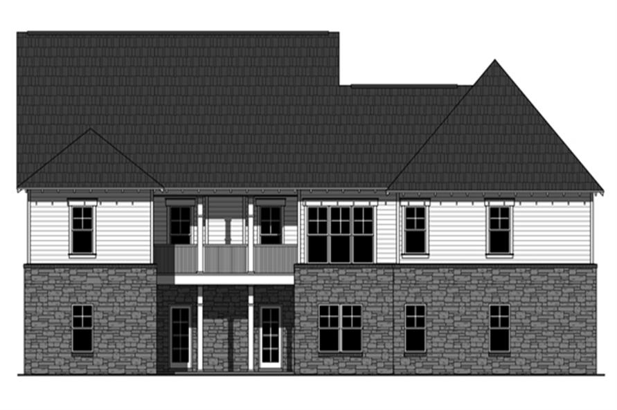 141-1279: Home Plan Rear Elevation