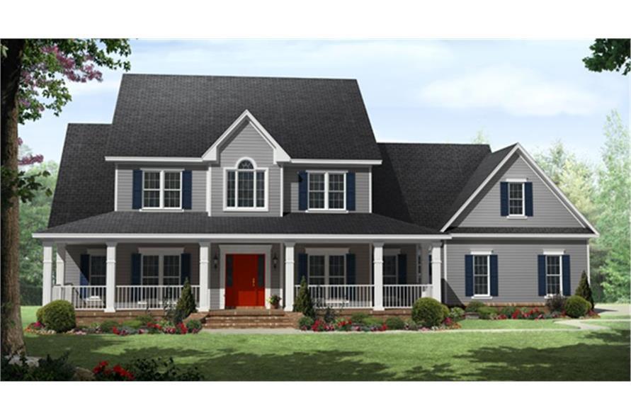 141-1287: Home Plan Rendering