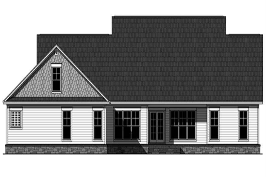 141-1290: Home Plan Rear Elevation