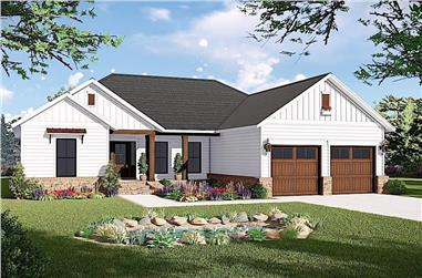 3-Bedroom, 1600 Sq Ft Ranch House - Plan #141-1316 - Front Exterior