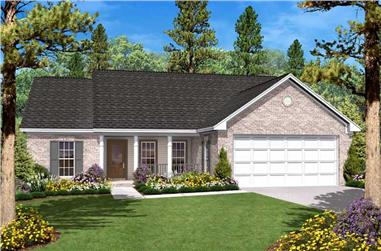 3-Bedroom, 1400 Sq Ft Country House - Plan #142-1008 - Front Exterior