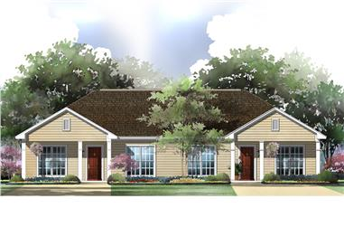 2-Bedroom, 2-Unit, 1800 Sq Ft Multi-Unit House Plan - 142-1037 - Front Exterior