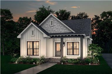 3-Bedroom, 1300 Sq Ft Craftsman House - Plan #142-1041 - Front Exterior