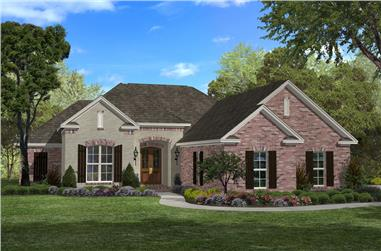 3-Bedroom, 1800 Sq Ft Country Home Plan - 142-1043 - Main Exterior