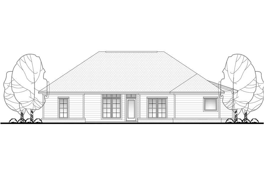 142-1061: Home Plan Rear Elevation