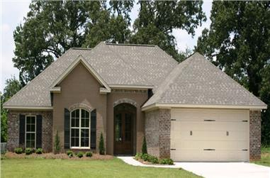 4-Bedroom, 1750 Sq Ft Acadian House Plan - 142-1072 - Front Exterior